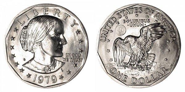 1979 S Susan B Anthony SBA Dollar