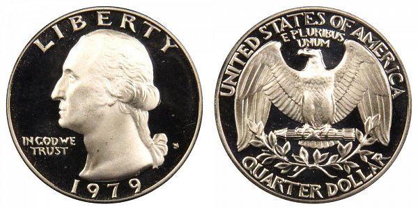 1979 Type 1 Filled S Washington Quarter Proof