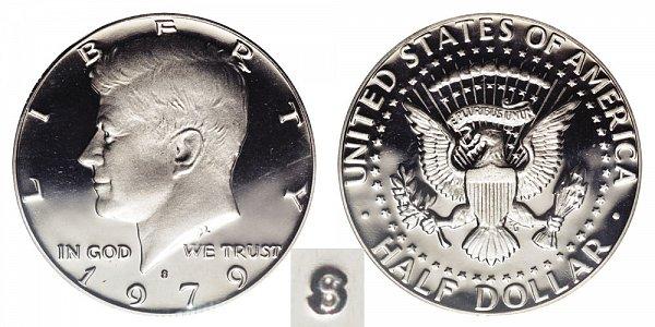 1979 Type 2 Clear S Kennedy Half Dollar Proof