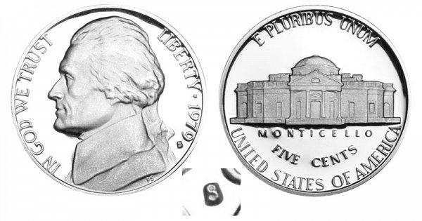 1979 Type 1 Filled S Jefferson Nickel Proof