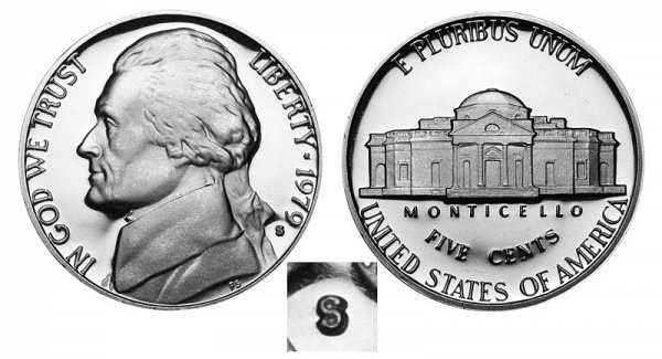 1979 Type 2 Clear S Jefferson Nickel Proof