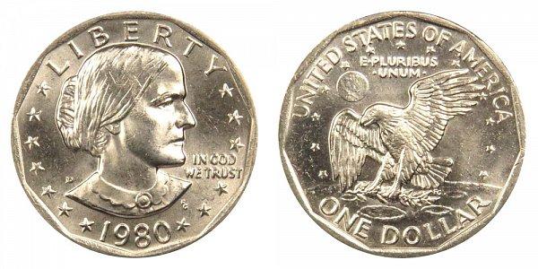 1980 D Susan B Anthony SBA Dollar