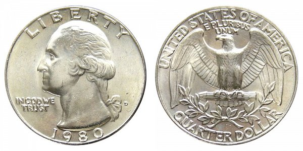 1980 D Washington Quarter