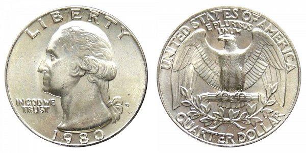 1980 D Washington Quarter