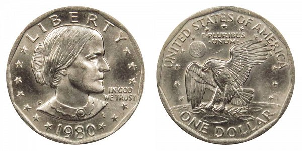 1980 P Susan B Anthony SBA Dollar
