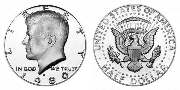 1980 S Kennedy Half Dollar Proof
