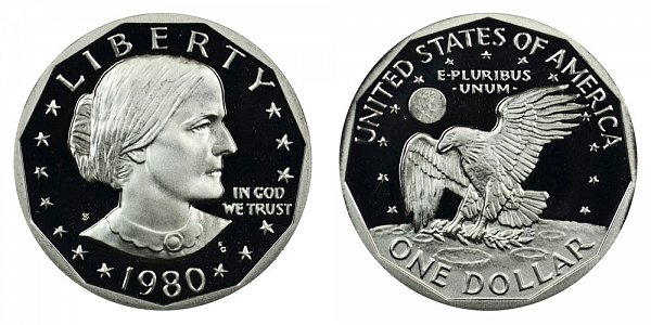 1980 S Susan B Anthony SBG Dollar Proof