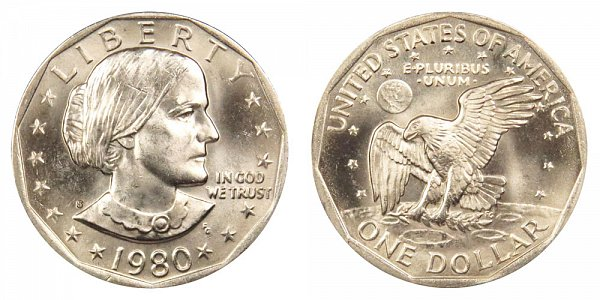 1980 S Susan B Anthony SBA Dollar