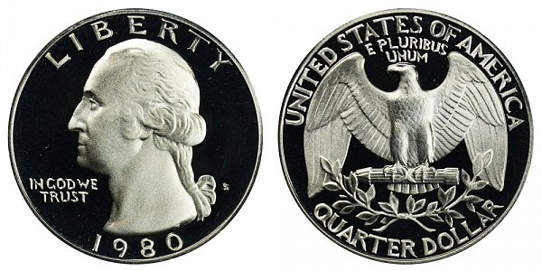 1980 S Washington Quarter Proof