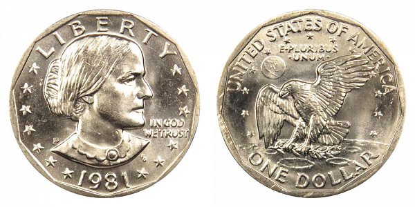1981 D Susan B Anthony SBA Dollar