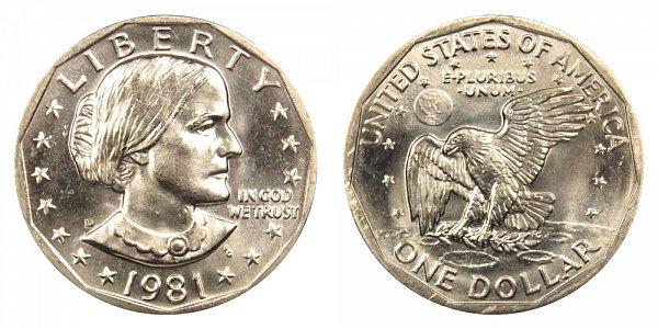 1981 D Susan B Anthony SBA Dollar
