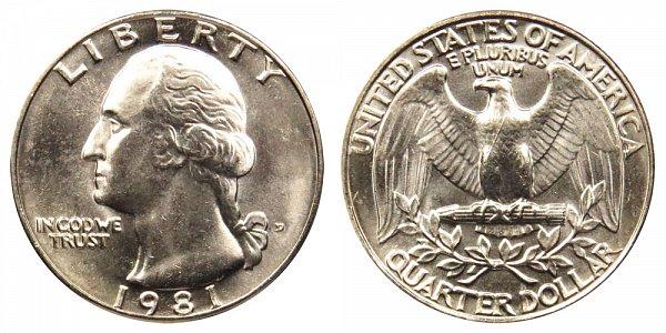 1981 D Washington Quarter