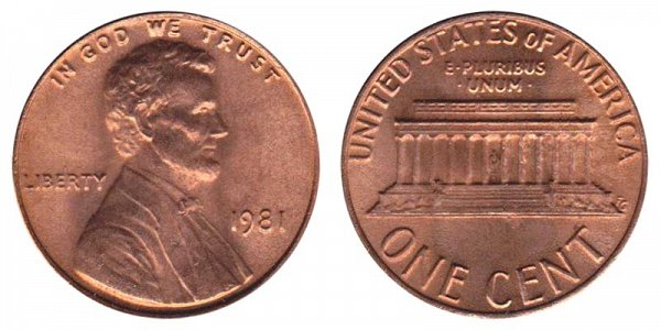 1981 Lincoln Memorial Cent Penny