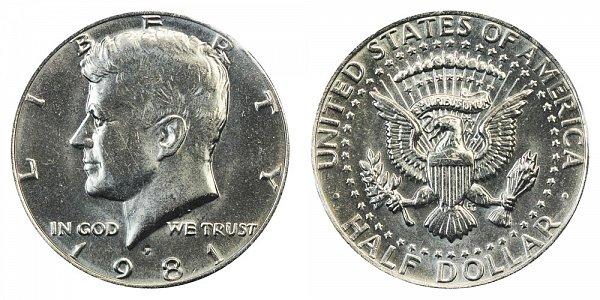 1981 P Kennedy Half Dollar