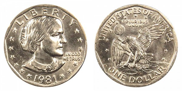 1981 P Susan B Anthony SBA Dollar