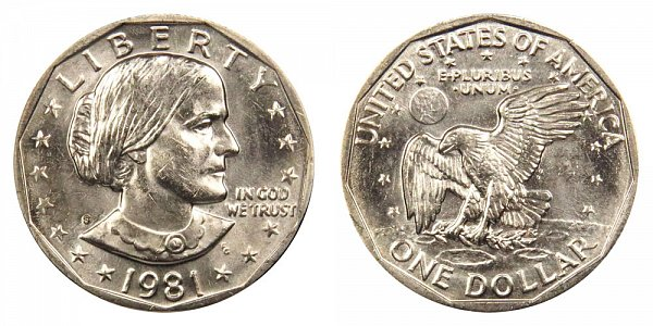 1981 S Susan B Anthony SBA Dollar