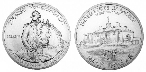 1982 George Washington Commemorative Half Dollar