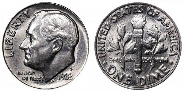 1982 P Roosevelt Dime
