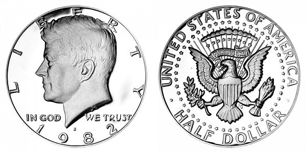 1982 S Kennedy Half Dollar Proof