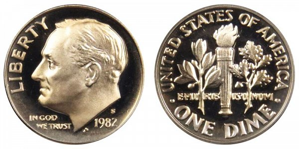 1982 S Roosevelt Dime Proof