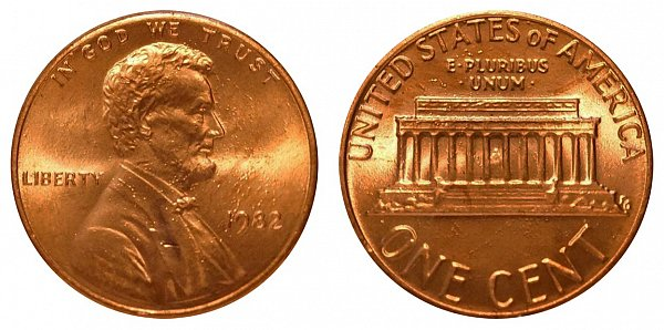 1982 Small Date Copper Lincoln Memorial Cent Penny