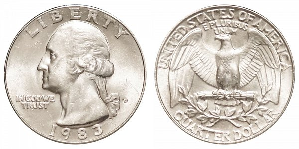1983 D Washington Quarter