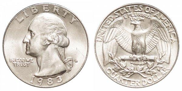 1983 D Washington Quarter