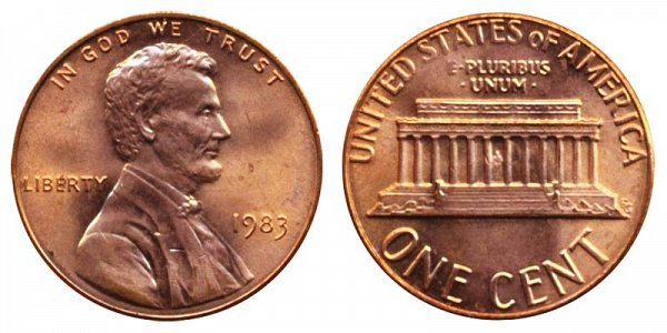 1983 Lincoln Memorial Cent Penny