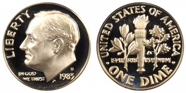 1983 S Roosevelt Dime Proof