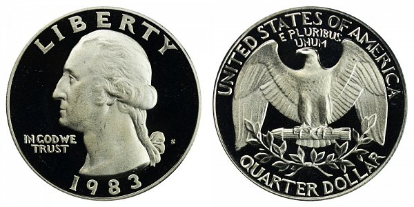 1983 S Washington Quarter Proof