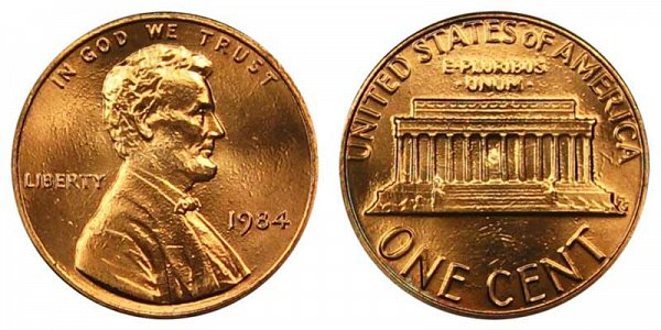 1984 Lincoln Memorial Cent Penny
