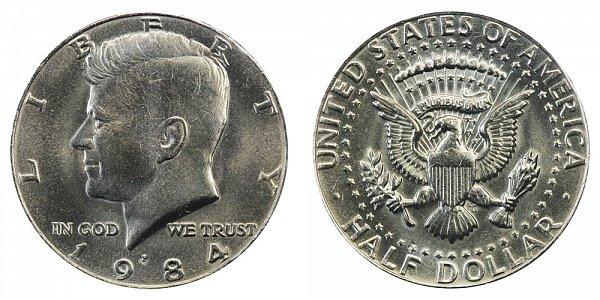 1984 P Kennedy Half Dollar