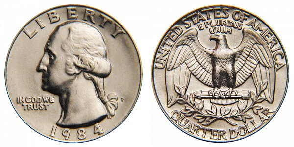 1984 P Washington Quarter