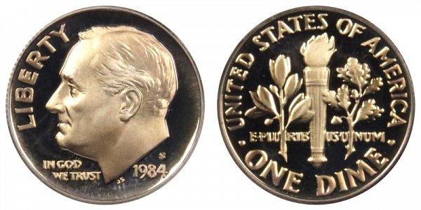 1984 S Roosevelt Dime Proof