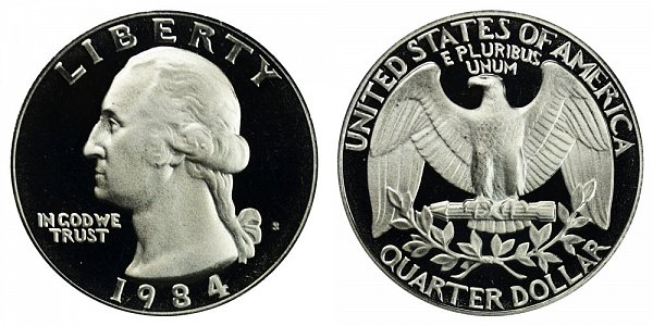 1984 S Washington Quarter Proof