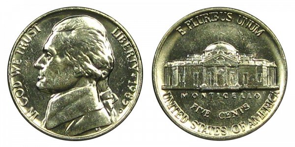 1985 D Jefferson Nickel