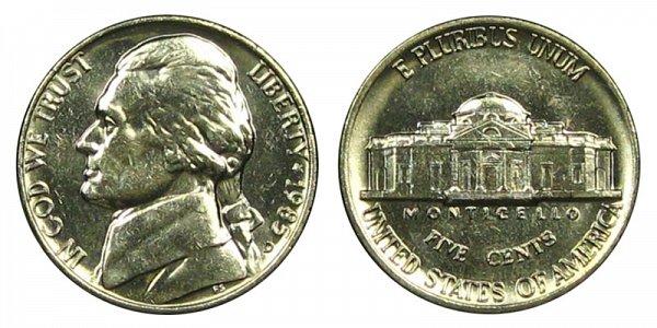 1985 D Jefferson Nickel