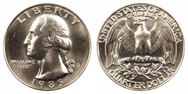 1985 D Washington Quarter