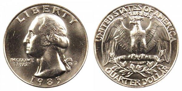 1985 D Washington Quarter