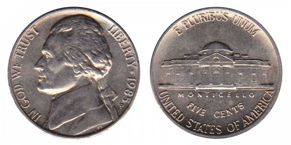 1985 P Jefferson Nickel