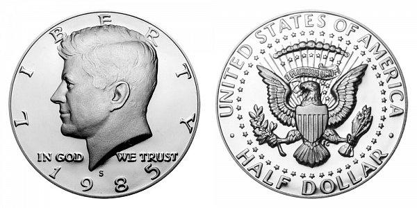 1985 S Kennedy Half Dollar Proof