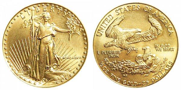 1986 Half Ounce American Gold Eagle - 1/2 oz Gold $25  - MCMLXXXVI
