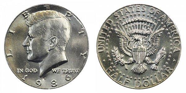 1986 P Kennedy Half Dollar