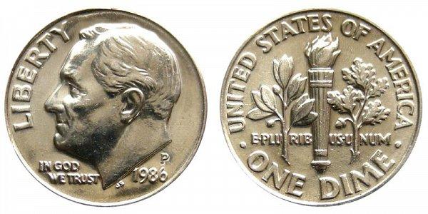 1986 P Roosevelt Dime