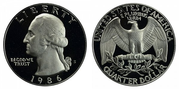 1986 S Washington Quarter Proof