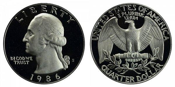 1986 S Washington Quarter Proof