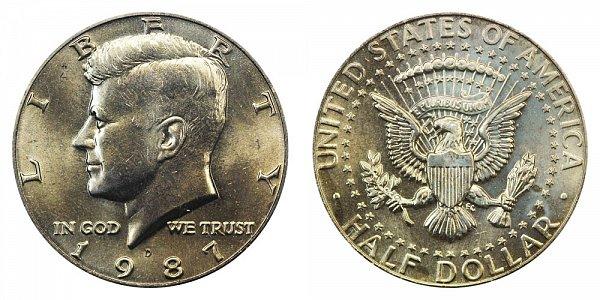 1987 D Kennedy Half Dollar