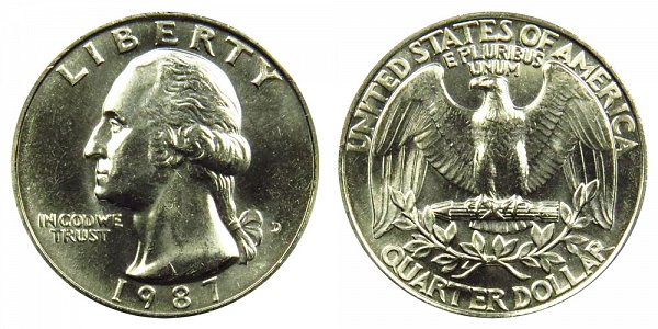 1987 D Washington Quarter