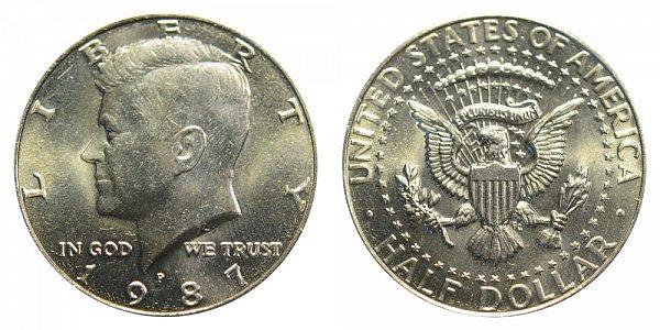 1987 P Kennedy Half Dollar