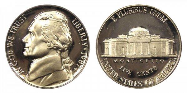 1987 S Jefferson Nickel Proof